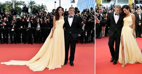 Џорџ Клуни и елегантната Амал на премиера во Кан