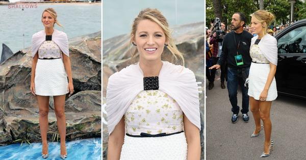Трудница со стил во Кан  Блејк Лајвли во мини фустан од Џамбатиста Вали