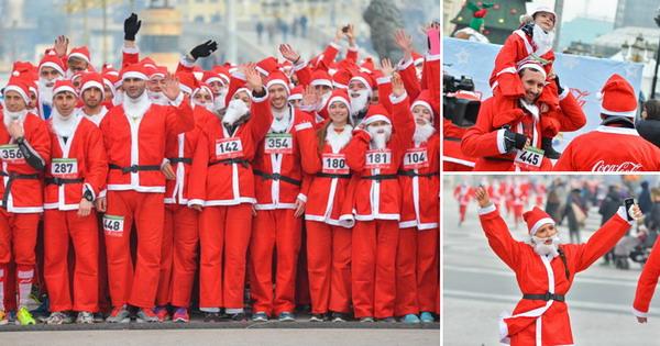 Во духот на празниците: Дедомразовска трка во Скопје