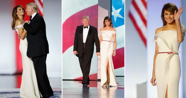 Меланија Трамп во фустан кој самата го креирала со ...