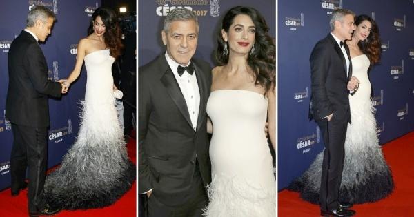 Амал Клуни го истакна трудничкото стомаче во