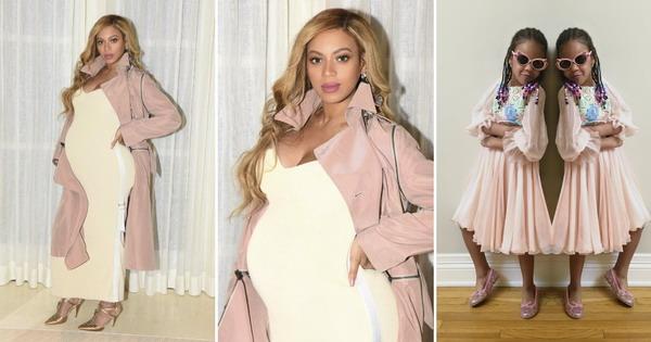 ФОТО: Бремената Бијонсе шармантна во светол стајлинг