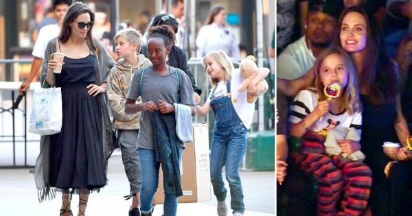 Анџелина Џоли со трите ќерки на шопинг во Лос