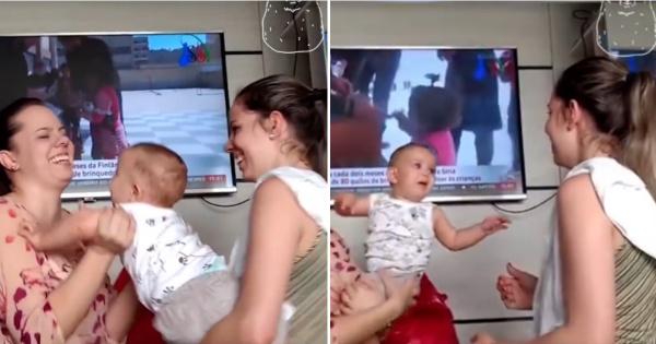 Која е мама  а која е тета  Реакција на бебе кога ќе