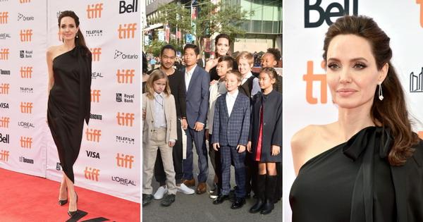 Анџелина Џоли со шесте деца на премиерата на