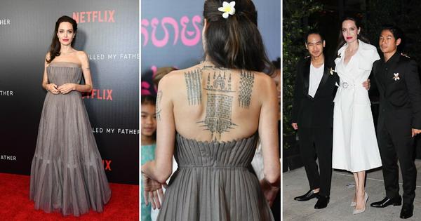 Анџелина Џоли ги покажа големите тетоважи во