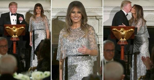Меланија Трамп во блескав фустан од 8