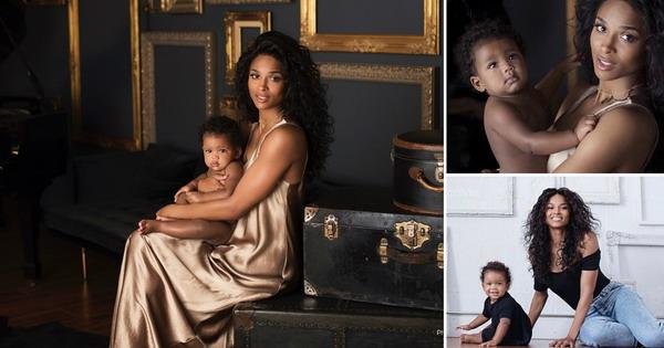 Сиара ги објави првите фотографии од слатката мала