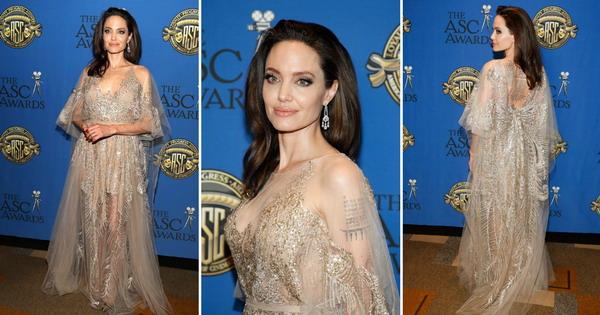 Анџелина Џоли грациозна ѕвезда во раскошен фустан