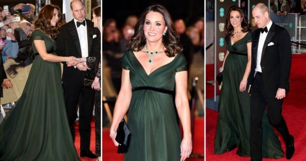 Војвотката Кетрин шармираше во зелен фустан и