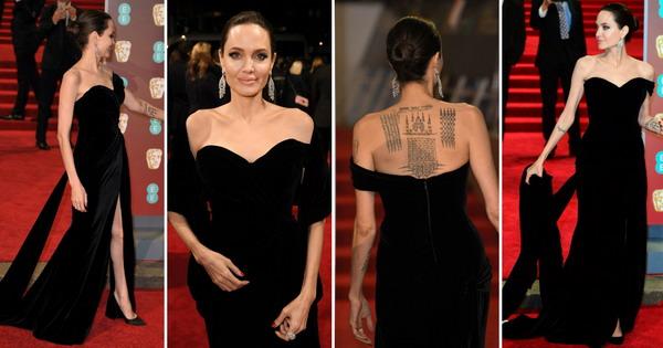 Безвременска елеганција  Анџелина Џоли во црно на