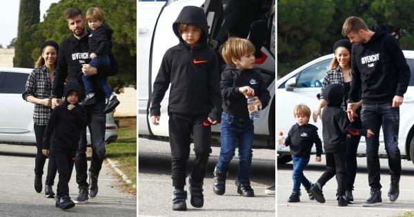 Шакира и Пике со преслатките синчиња на Дизни