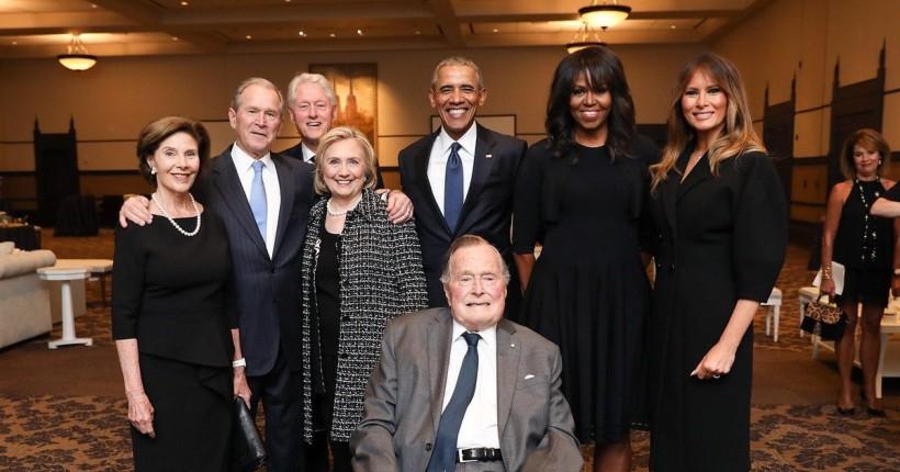 4 претседатели и 4 први дами на САД позираа заедно