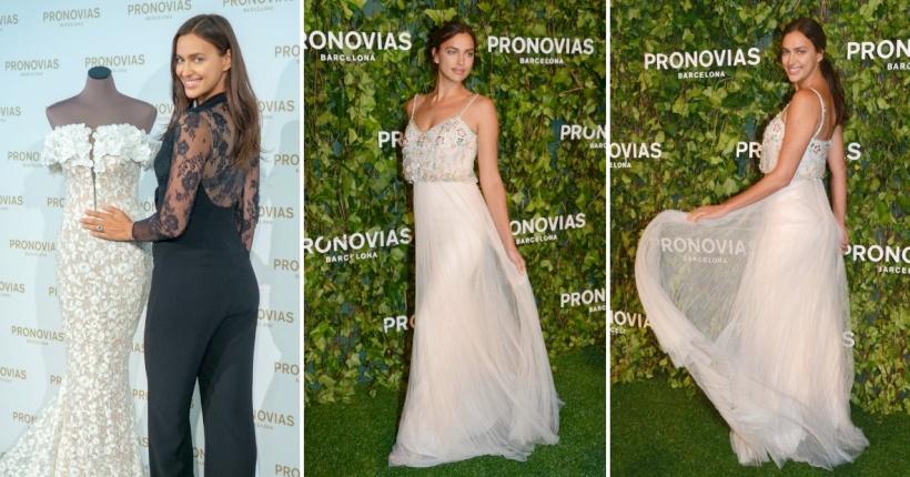 Ирина Шајк во нежен фустан од Pronovias на невестинска