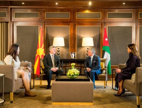 Ѓорге и Маја Иванови со кралот и кралицата на Јордан