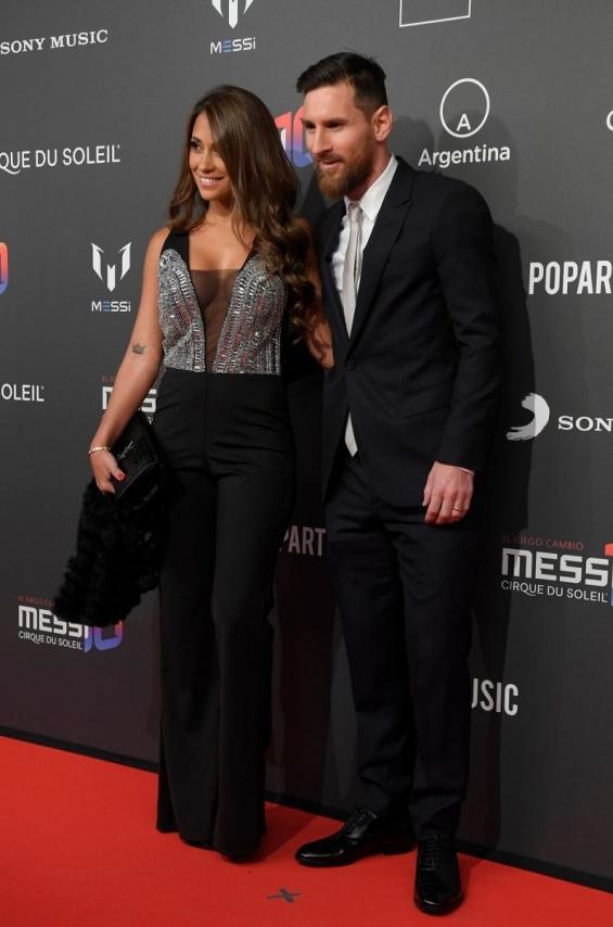 Лионел Меси и Антонела