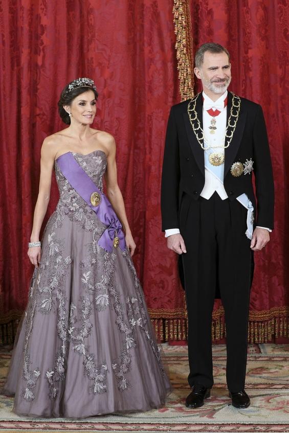 Кралицата Летици�а и кралот Фелипе