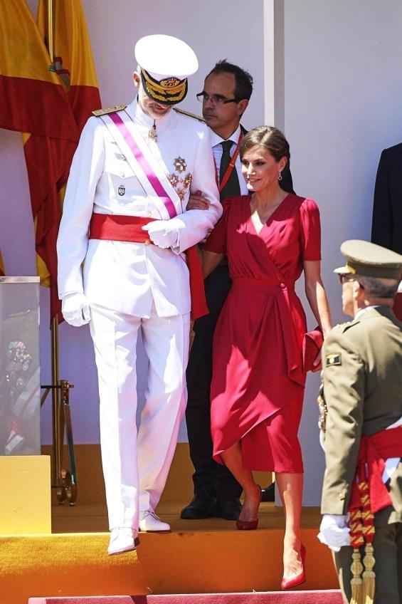 Кралот Фелипе и кралицата Летици�а