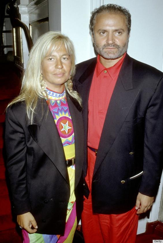 Донатела со Џани Версаче во 1990 годинала Версаче